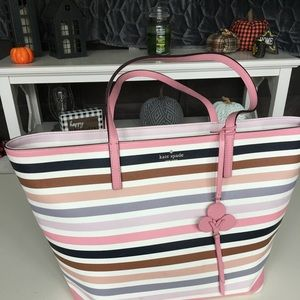 Kate spade striped large tote